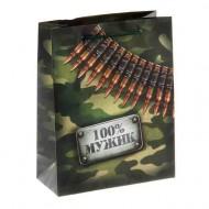 Пакет ламинат вертикальный ,100% мужик, 18х 23 см