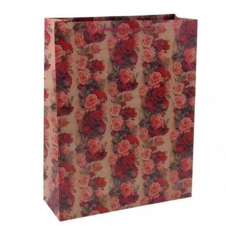 Пакет крафт ,Розы,
