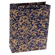 Пакет крафт,Ажур,синий