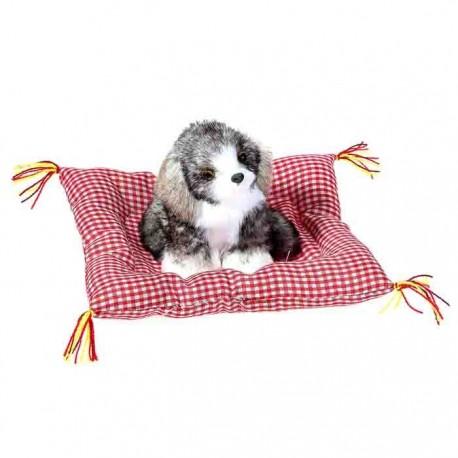 Пушистик на подушке ,Любопытный щенок, МИКС