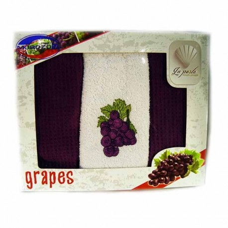 Набор ,Grapes,3шт,махра,30х50,Ассорти