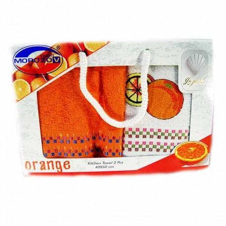 Набор ,Orange,2шт,махра,40х60,Ассорти