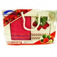 Набор ,Strawberry,2шт,махра,40х60,