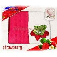 Набор ,LA PERLE Strawberry,2шт,махра-вафель,30х50,