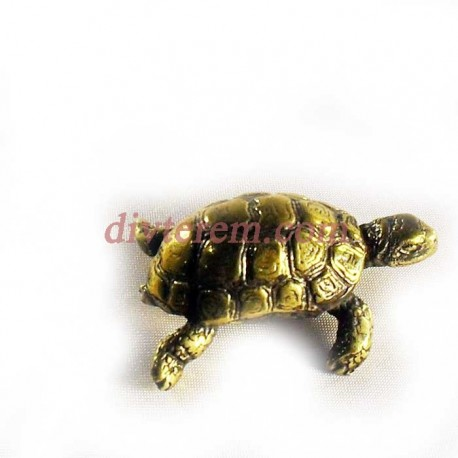Статуэтка амулет,Черепаха  ,55-40-20 ,бронза