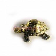 Статуэтка амулет,Шкатулка черепаха  ,55-40-25мм ,бронза