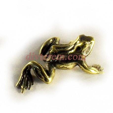 Статуэтка амулет,Лягушка  ,55-45-20 ,бронза