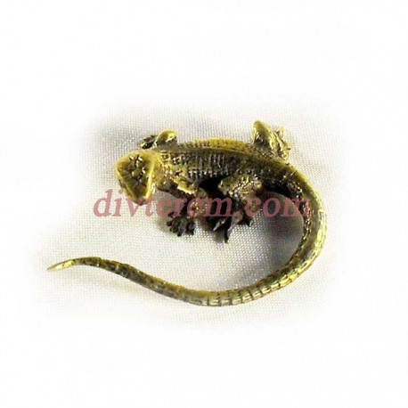 Статуэтка амулет,Ящерица  ,55-55-20мм ,бронза
