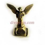 Статуэтка ,Подсвечник Ангел с крестом  ,65-35-25мм ,бронза