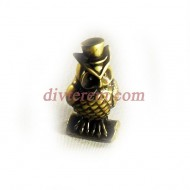 Статуэтка амулет,Сова в шляпе  ,40-20-15мм ,бронза
