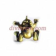 Фигурка,амулет,Царевна лягушка  ,28-25-15  мм,Бронза