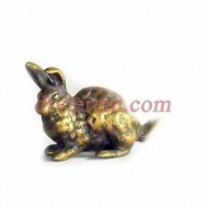 Фигурка,амулет,Кролик  ,35-25-15  мм,Бронза