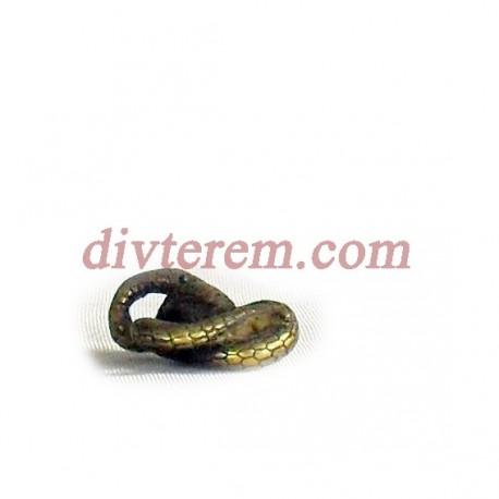 Фигурка,амулет,Спящая змея  ,25-20-10  мм,Бронза
