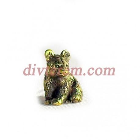 Фигурка,амулет,Медведь  ,25-20-15  мм,Бронза