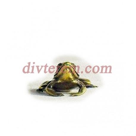 Фигурка,амулет,Лягушка  ,25-25-12  мм,Бронза