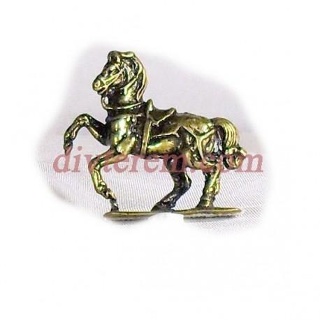 Фигурка,амулет,Лошадь в сбруе  ,,32-30-12  мм,Бронза