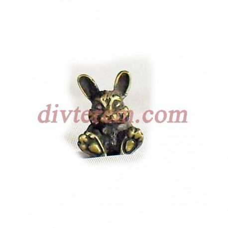 Фигурка,амулет,Кролик  ,24-16-16  мм,Бронза