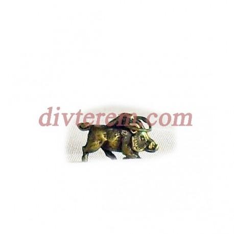 Фигурка,амулет,Кабан  ,22-12-5  мм,Бронза