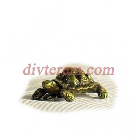 Фигурка,амулет,Черепаха  ,30-20-15  мм,Бронза