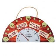 Термометр на полукруглой шкале ,Спидометр, 19.7 х 9,6 см
