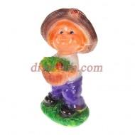 Садовая фигура ,Мальчик в шляпе,