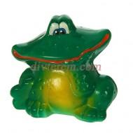 Садовая фигура ,Улыбающийся лягушонок, зелёная