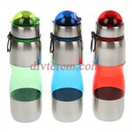 Бутылка велосипедная Sport Style с поильником, 600 мл, микс
