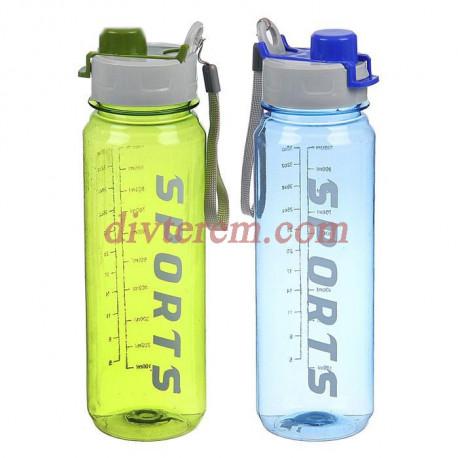Бутылка спортивная Sports, 1000 мл, микс