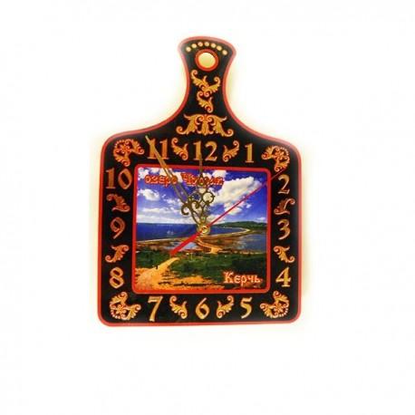"Сувенир-доска часы""Керчь"" 27х18 см"