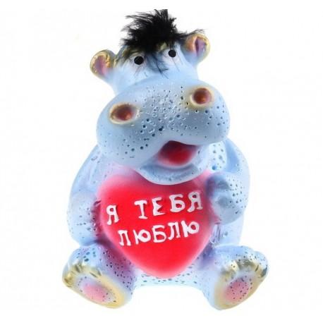 "копилка ""Бегемотик ""голубой 15 см"