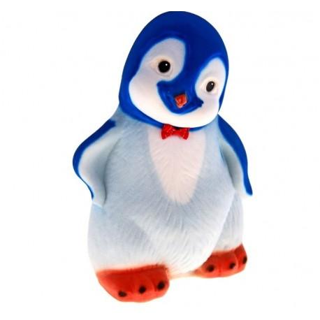 """копилка """"Пингвиненок"""" флок синяя 30 см"""