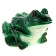 """копилка """"Лягушка"""" темно-зеленая ,белый животик 20*30 см"""