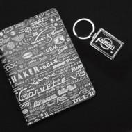 Набор подарочный (обложка для автодокументов,брелок)