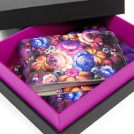 Подарочный набор (обложка для паспорта,визитница) в подарочной коробке