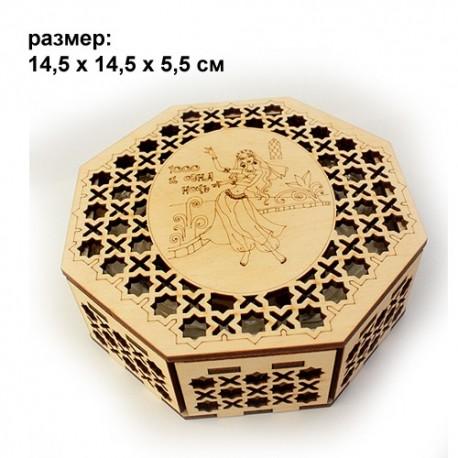шкатулка резная деревянная 1001 ночь