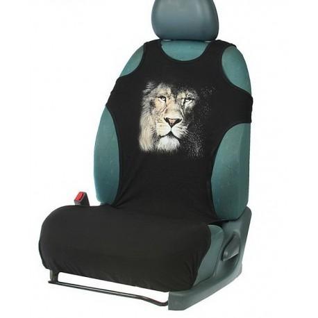 Чехол-майка ,Лев, на переднее сиденье, хлопок